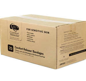 "Comfort Release - Case of 2"" x 4"" Bandages"
