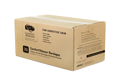 """Comfort Release - Case of 2"""" x 4"""" Bandages"""