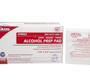 Dukal Alcohol Prep Pad 100 Pack